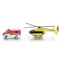 Set De Rescate Ambulancia/ Helicoptero Siku Escala 1:87