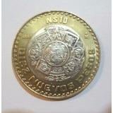 Moneda 10 Nuevos Pesos Centro Plata