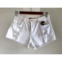 Short Para Dama Marca Zara Color Blanco Sucio