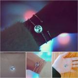 Pulsera Luna Llena Brilla Oscuridad Moda Brillante Envió 3d