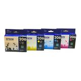 Cartuchos De Tinta 206 Para Impresora  Xp-2101 4 Pzs