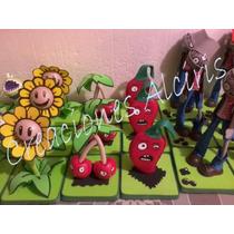 Plantas Vs Zombies Centro De Mesa, Dulcero, Foami, Fofuchas