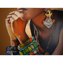Joel Reyes Pintura Al Oleo 170 X 120 Cmt Mujer