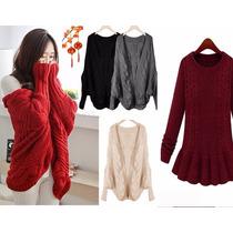 Moda Japones Oriental Sueter Tejido Bordad Abrigo Env Gratis