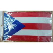 Bandera De Puerto Rico .90x1.58 Mts Poliester Satinado