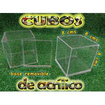 Cubo Display De Acrilico 8x8x8cms Exhibidor Maa