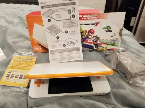 New Nintendo 2ds Xl Naranja Mario Kart 7 Practicamente Nuevo