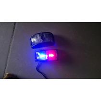 Faro Policia Azul Rojo De Leds 12v 7 Cm X 4 Cm