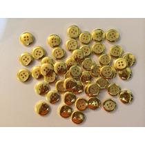 Botones Para Ropa Dorados (2 Hoyos) Lote De 50 Piezas.(3)