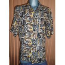 Bruno Camisa Hawaiiana 100% Rayon Talla Grande