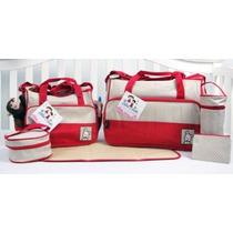 Pañalera Soho Designs - Royal Red Bolsa De Pañales Con Camb