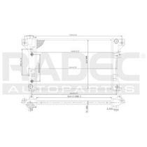 Radiador Chrysler Shadow 1991-1992-1993 L4/v6 2.2/3.0l Aut