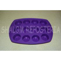 *molde Silicon Charola 12 Mini Cupcakes Muffins Mantecadas*