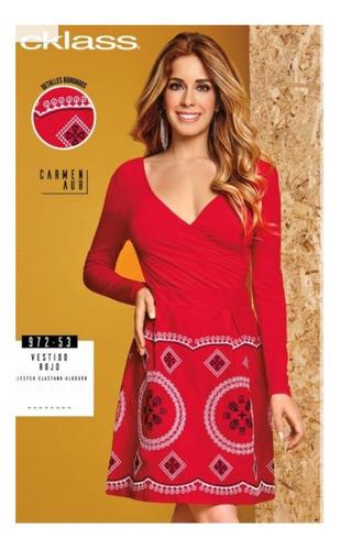 Vestido Cklass Rojo 972 53 Otoño Invierno 2018 Nuevo En