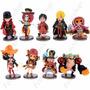 9 Figuras One Piece Luffy Nami Zoro Chopper Chibi Anime