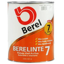 Pintura Vinilica Berelinte 823-5 Base Pastel (1 Galon