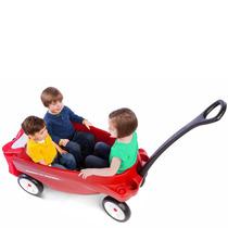 Tb Radio Flyer Triple Play Wagon Para Tres Niños Y Carga