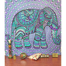 Manta Decorativa ** Hippie Elephant** De Jaipur Handloom