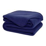 Cobertor Melocotton Merrow Matrimonial Azul Marino Liso