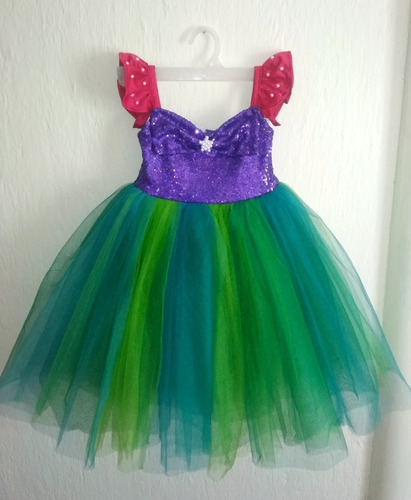 Vestido La Sirenita Tutú Para Niña En Venta En Lomas De