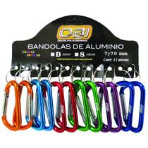 Bandola Aluminio Forma De D Exhibidor 7 Cm Con 12 Pzs.