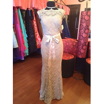 Vestido Fiesta Noche Alta Costura Night Talla 8 $500 Dlls
