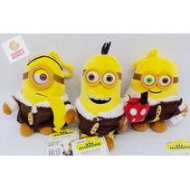 Minions Peluche 3pzs Con Abrigos Originales Regalo Amigos