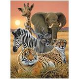 12638 Poster Lenticular 3 D - Safari