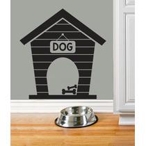 Vinilo Decorativo Diseño Dog House Mascota Casa De Perro