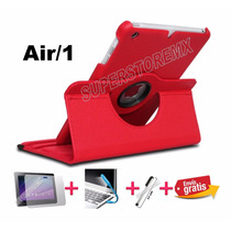 Funda Giratoria 360 Ipad Air 1+envio+mica+stylus+lampara Led
