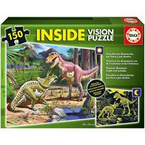 15897 Inside Vision Dinosaurio Rompecabezas 150 Piezas Educa
