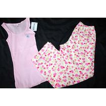 Aeropostale Set Pijama Dama Conejitos Rosas Talla Chica