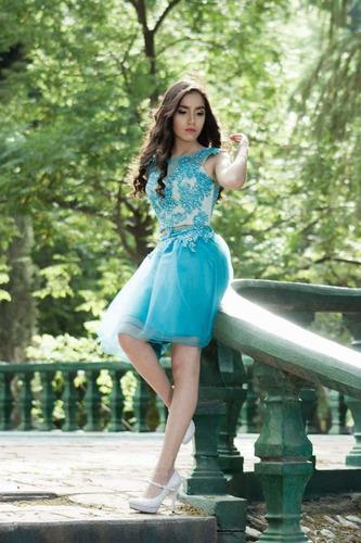 d7a39e1a8f Vestido De Xv Años Corto Azul Aqua Turquesa en venta en Burocratas Del  Estado Saltillo Coahuila por sólo   1500
