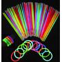 Pack De Pulseras De Neon Para Fiestas Y Eventos Glowparty
