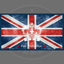 Pet Food Mat - Rebelión Cena Compañero Union Jack Máquina