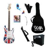 Paquete Guitarra Electrica Skala + Ampli + Accesorios