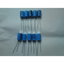 Capacitor Electrolitico 220 Uf 25v Paquete 10pzas