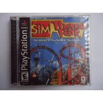 Sim Theme Park Para Playstation 1 Ps1 Completo Crea Parque