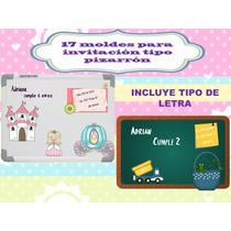 Klr-010 Kit De Moldes Para Invitación Tipo Pizarrón
