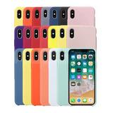 Funda Silicon iPhone 6 6s 7 8 Plus X Xr Xs Max 11 Pro Case