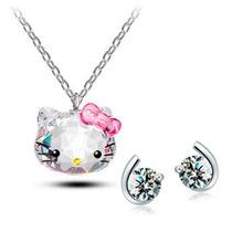 Regalo Dije Hello Kitty Swarovski Element Incluye Envio!!!