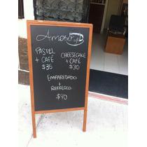 Pizarron-cafeteria-restaurante Doble Cara 60x90x120 800.00