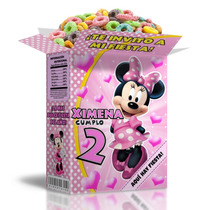 Kit Imprimible Minnie Rosa Powerpoint Editable 3 Invitacion