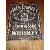 Cartel Anuncio De Metal Original De Jack Daniel`s