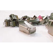 Plug Conector Rj-45 Cat6 Ftp Blindado Bolsa Con 100 Pzas