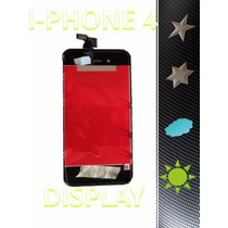 Pantalla Display Iphone 4 4g Touch Y Digitalizador Negro Fn4