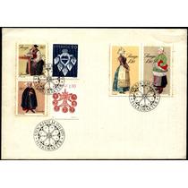 0143 Suecia Carta Primer Día Trajes Típicos 1979