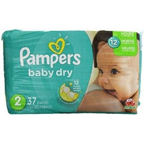 Pampers Baby Dry Pañales - Tamaño 2-37 Ct