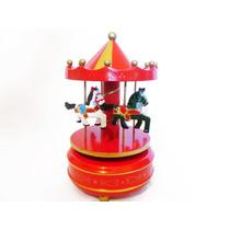 Caja Musical De Cuerda Carrousel O Carrusel Con Caballitos