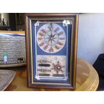 Portallaves Con Reloj Con Motivos Marinos